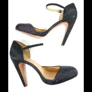 Badgley Mischka Black Leather Heels size 8.5